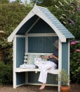 arbour painted wooden